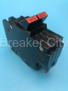 Federal Pacific 2 Pole 30 Amp Nc Circuit Breaker Thin 120 240vac Fpe chip Read
