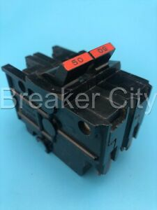 Federal Pacific 50 Amp 2 Pole Type Na Circuit Breaker Stab lok Thick Fpe 120 240