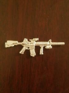 999 Silver Bullion Hand Poured AR Tactical Assault Rifle By 1776 Mint $64.95