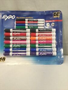 Expo Low Odor Dry Erase Markers 18 count Damaged Box
