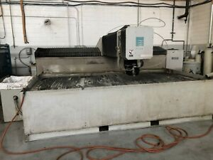 2008 Flow Ifb 6012 Cnc Waterjet Cutting System 6x12 Table Size 50 Hp 60k Psi