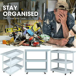 3 layer Tool Cart Trolley Organizer Rolling Utility Workbench Workstaion