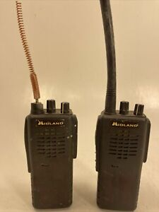 Lot Of 2 Midland Maxon Sp 330 Vhf Commercial Radio Used As is