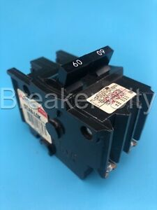 Federal Pacific 60 Amp 2 Pole Type Nb Circuit Breaker Bolt On American Fpe 240v