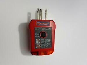 Westward 19t234 Receptacle Tester With Gfci 110to 125vac