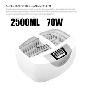 2500ml Digital Ultrasonic Cleaner 70w For Eyeglasses Coins Razors Combs Watches