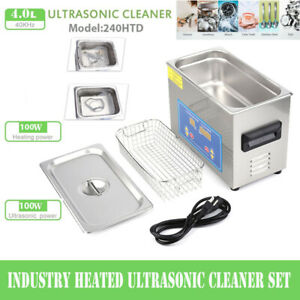 Professional Digital Ultrasonic Cleaner Machine With Timer Heated Cleaning 4l Us