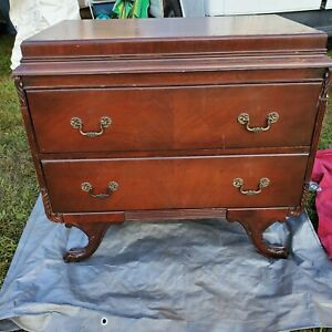 Vintage Antique Mahogany Dresser Or Buffet Server W Claw Feet Queen Anne Style