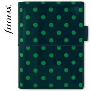 Genuine Filofax Personal Domino Patent Pine With Spots New In Protective Sleeve