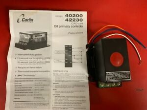 New Carlin 42230 02a Electronic Oil Burner Control For 40200 42230