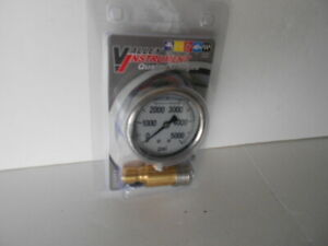 New Valley Instrument 5000 Psi Hydraulic Pressure Gauge W quick Connect Fitting
