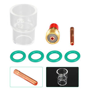 7pcs Tig Welding Torch Stubby Gas Lens Pyrex Glass Cup Kit For Wp 9 20 25 U8