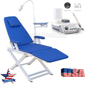 Us Dental Folding Chair Examination With Led Light ultrasonic Scaler Handpiece