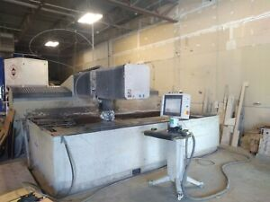 2009 Flow Ifb 6012 Cnc Waterjet Cutting System 6x12 Table Size 50 Hp 60k
