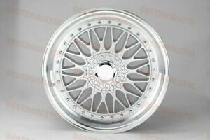 19 Silver Silver Rs Style Rims Staggered Wheels Fits Mercedes Benz Jdm Honda
