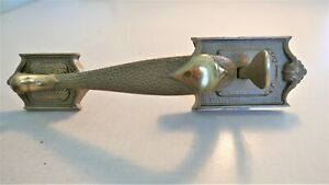 Vintage Cast Brass Exterior Front Door Handle Pull With Thumb Lever