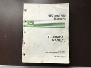 John Deere 650 And 750 Tractor Technical Manual