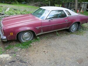 Vintage 1976 Chevy Malibu Classic Car Complete Or For Parts