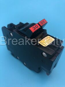 Federal Pacific 30 Amp 2 Pole Nc Circuit Breaker 120 240v Thin Fpe chip Read