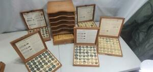 Kingsley Machine Type Box With 5 Boxes And Bottom Drawer Full Of Type And Other