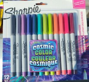 Sharpie Permanent Markers Ultra Fine Point Cosmic Color 12 Count new In Package