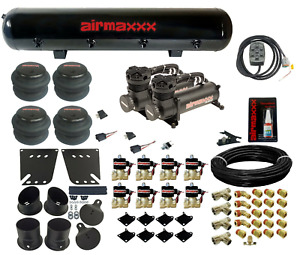 480 Black Air Compressors Valves 7 Switch Tank Air Ride Kit For 1958 64 Impala
