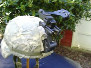 Large Gentex TBH II ACH Helmet NVG Mount Norotos Arm J Arm Named band ACU cover $429.00