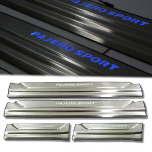 Chrome Door Step Scuff Plate With Led For Mitsubishi Pajero Sport Suv 2015 2019