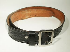 Leather Shop Police Duty Belt From The 1960 s Basket Weave 40 Good Shape