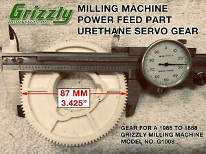 Grizzly Milling Machine Power Feed Gear By Well setting G 2876 For G1008 Mill
