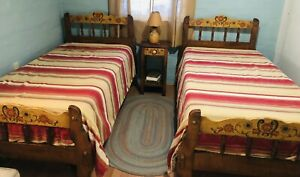 Twin Monterey Beds And Nightstand