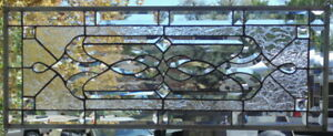 Stained Glass Transom Window Hanging 31 X 12 1 2 Incl Hooks