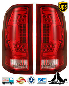 For 2007 2013 Chevy Silverado 1500 2500 3500 Led Sequential Tail Lights Red Pair