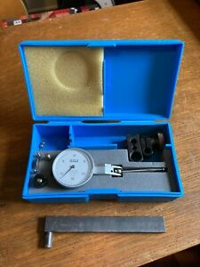 Teclock Lti 353 Micrometer japan Made jeweled 0005 in Case extra Parts Include