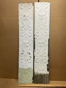 2 Pc 36 X 6 5 Flat Antique Ceiling Tin Vintage Reclaimed Salvage Art Craft