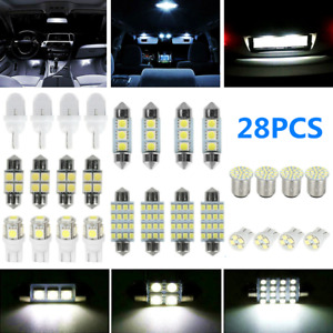 28pcs Car Interior Led Light For Dome Map License Plate Lamp Bulbs Accessories