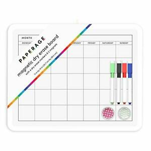 Dry Erase Board Monthly Grid Calendar Magnetic Whiteboard 11 By 14 Inch