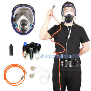 Painting Supplied Air Fed Respirator System 6800 Full Face Gas Mask Safety