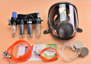 4 In1 Painting Safety Supplied Air Fed Respirator Kit System 6800 Face Gas Mask
