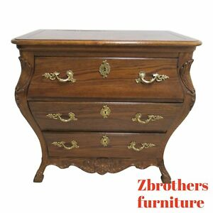 Custom Solid Oak French Bombay Commode Dresser Chest Console Server