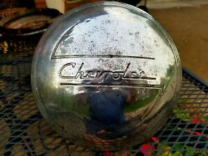 Vintage Chevrolet Chrome Logo Chevy Center Hub Cap Ships Promptly And Free