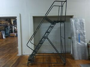 Ballymore Rolling Steel Warehouse 8 Step Ladder pre owned