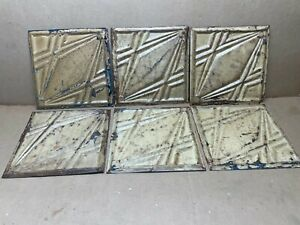 6pc Lot Of 11 5 X 11 5 Antique Ceiling Tin Vintage Reclaimed Salvage Art Craft