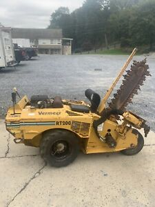 Vermeer Rt200 Walk Behind Trencher With Porta Bore Attachement Boring Carbide