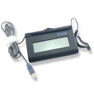 Tested Topaz Siglite 1x5 Usb Lcd Signature Pad t lbk460 hsb Working With Pen