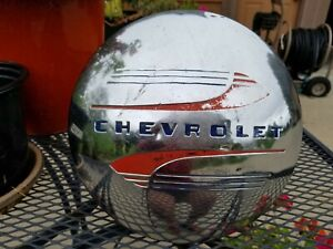 Vintage Chevrolet Dog Dish Poverty Hubcap 10 Inch Shipped Promptly Free