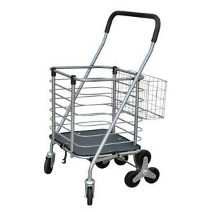 Janitorial Cart 2 22 Cu Ft 75 Lb Capacity 2 compartment Grip Handle Steel