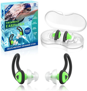 2 Pairs Swimmer Ear Plugs Hearprotek Upgraded Custom fit Water Protection Adult