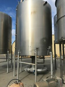 4000 Gallon Stainless Steel Tank With Agitator National Board 55 Psi
