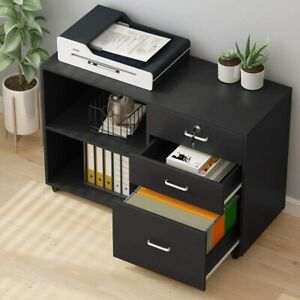 Tribesigns Filing Cabinet Home Office Drawer File Cabinets With Lock Wheels